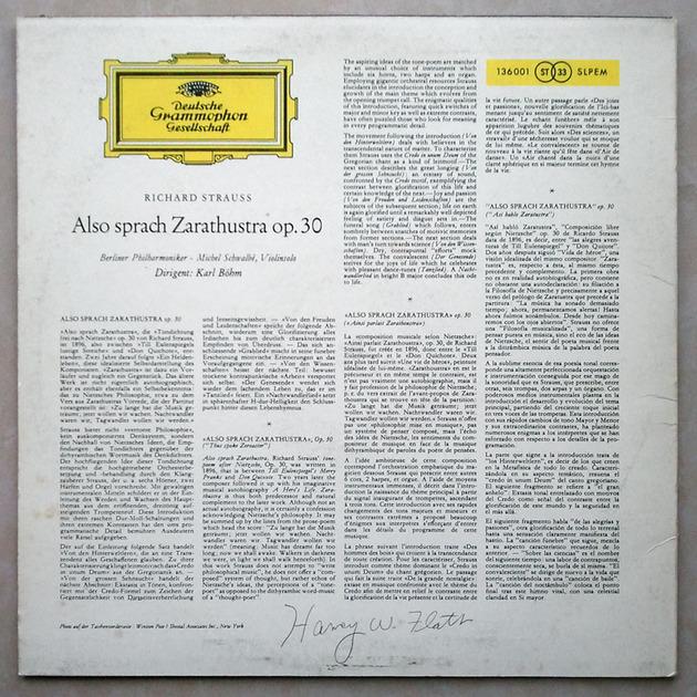 DG/Bohm/R. Strauss - Also sprach Zarathustra