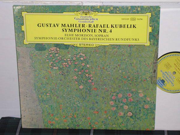 Kubelik/SOdBR - Mahler No.4 DGG German import Tulip label