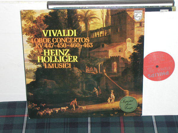 I Musici/Holliger - Vivaldi Oboe Ctos Philips Import LP 9500
