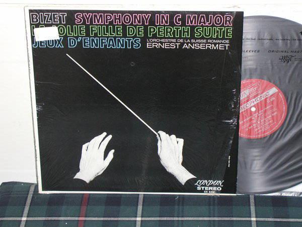 Ansermet/L'OdlSR - Bizet London UK/Decca CS6208 LP