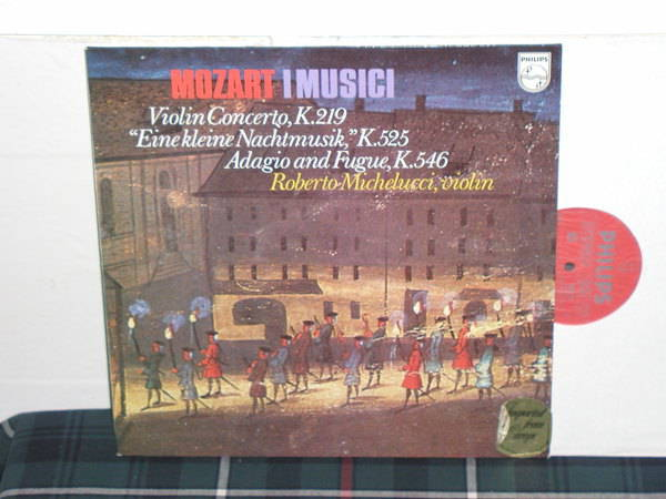 I Musici/Michelucci - Mozart Philips Import LP 6500