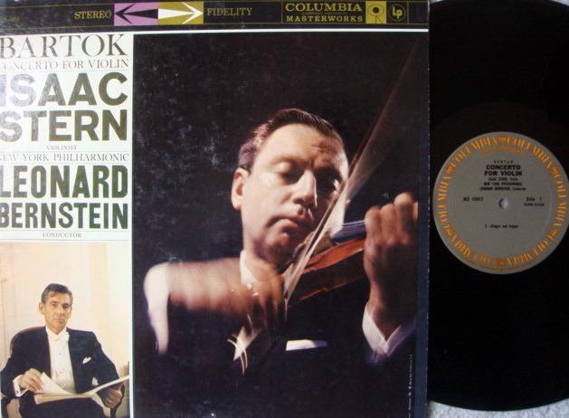 Columbia / STERN-BERNSTEIN, - Bartok Concerto for Violin, NM!