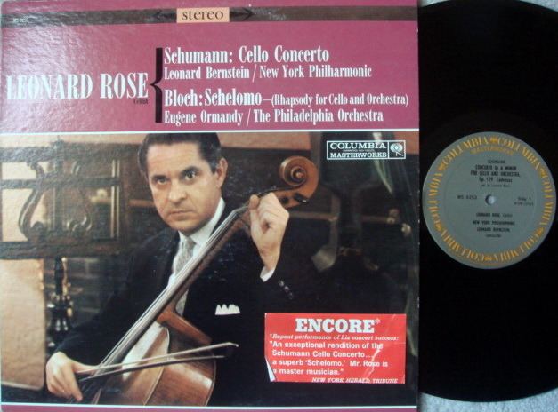 Columbia / ROSE-BERNSTEIN, - Schumann Cello Concerto, MINT!