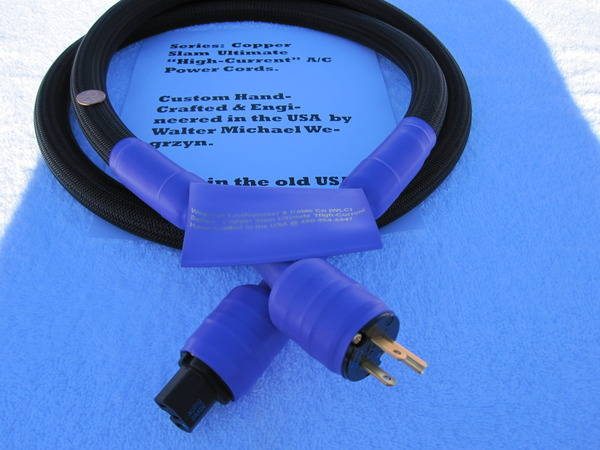Wegrzyn Cable Company's 8AWG Ultimate Super High Current Power Cords Have Reached 'CULT' Status - try one - WOW.