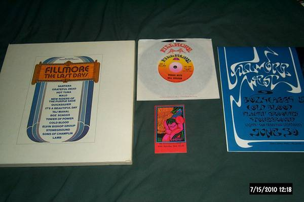 Fillmore - 3 Lp Box Last Days with doors ticket + poster