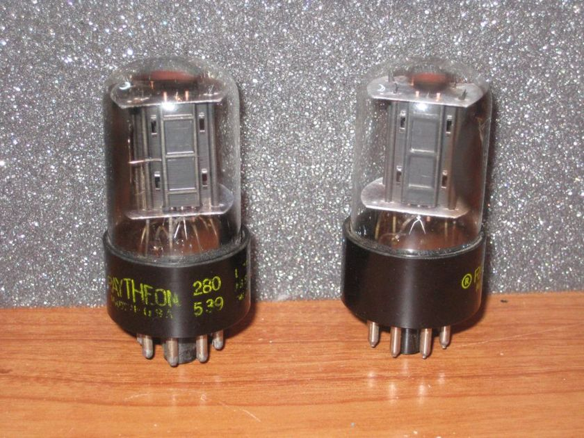 Raytheon 6sn7 gtb small bottle rare side getter