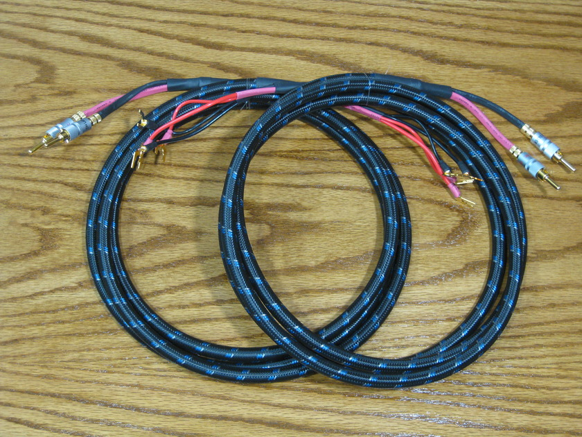 SILVER SONIC Q-10 speaker wire 8 foot pair