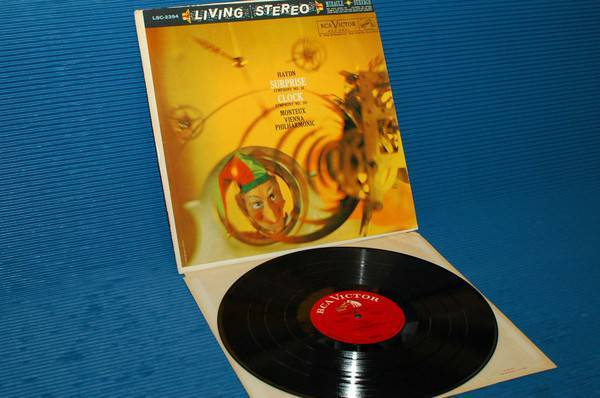 """HAYDN/Monteux - - """"'Surprise & Clock Symphonies"""" -  RCA 'White Dog' 1964 early pressing"""