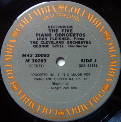 Columbia / FLEISHER-SZELL, - ,Beethoven the Complete 5 Piano Concertos, MINT, 4 LP Box Set!