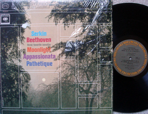 Columbia / RUDOLF SERKIN, - Beethoven Three Favorite Piano Sonatas, EX!
