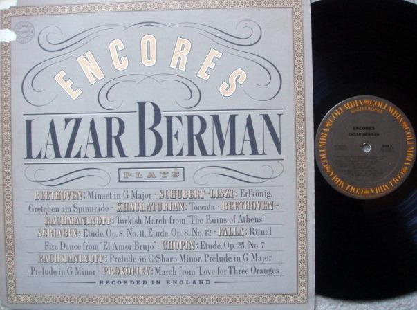 Columbia / LAZAR BERMAN - Encores,  EX!