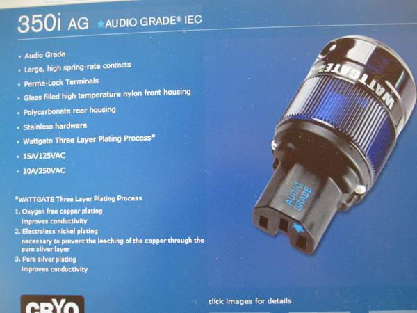 Wegrzyn Cable Company 5N Silver Signature Cryogenic Powercord 10Gauge[AWG]4feet[or1.2meters] HUGE SALE