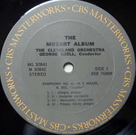 Columbia / CASADESUS-STERN-SZELL - Mozart Album, 2LP Set, NM!