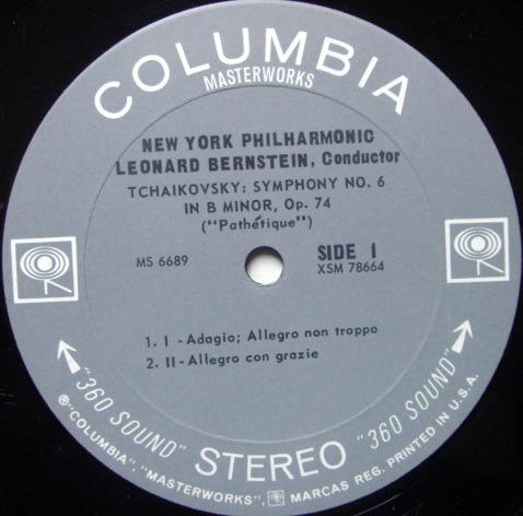Columbia 2-EYE /, LEONARD BERNSTEIN, - Tchaikovsky Symphony No.6 Pathetique, MINT!