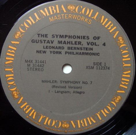Columbia / LEONARD BERNSTEIN, - Mahler Symphony No.7 & 8 Thousand, MINT, 4LP Box Set!
