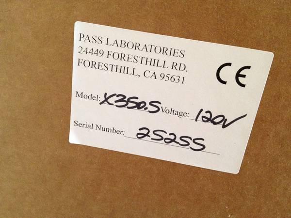 Pass Labs X350.5 Brand New, Unopened Box