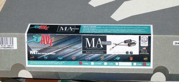 MIT AVT MA XLR 1.5m pr. New-in Box. 14th ANNIVERSARY SALE! HALF PRICE! LIFETIME WRNTY