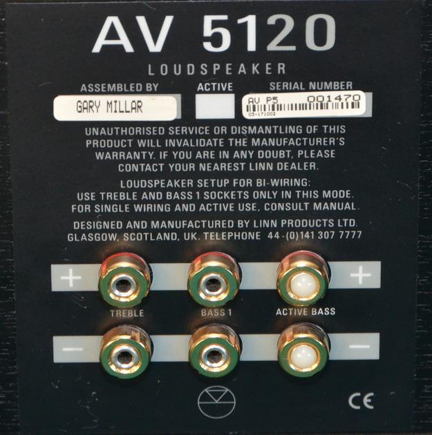 LINN AV 5120 CENTER CHANNEL LOUDSPEAKER