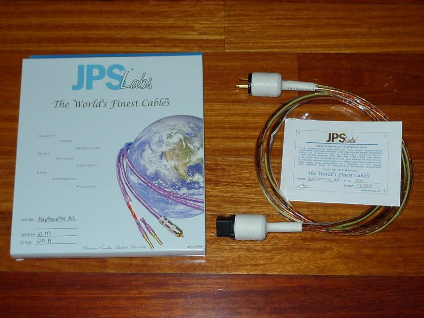 JPS Labs Kaptivator Power Cord 20A IEC Kaptivator 20A IEC  Bonus Voodoo 20A to 15A adaptor