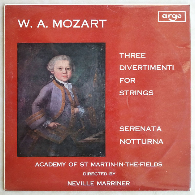 Argo Decca/Marriner/Mozart - 3 Divertimenti for Strings, Serenata, Notturna  / EX
