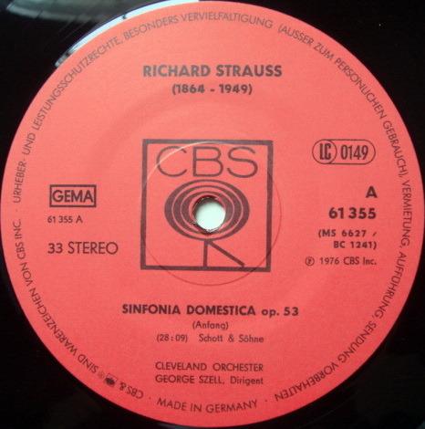 Columbia Germany / GEORGE SZELL, - R. Strauss Sinfonia Domestica, MINT!