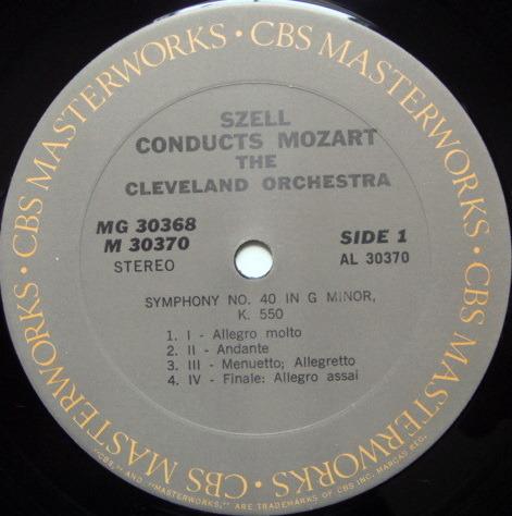 Columbia / GEORGE SZELL,  - Mozart Symphonies No.35 Haffner, No.39, No.40 & No.41 Jupiter, MINT, 2LP Set!
