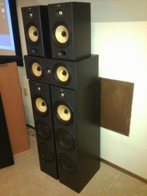 B&W five speakers set DM605 S2, LCR6 S2, DM601 S2