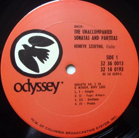 Columbia Odyssey / HENRYK SZERYNG,  - Bach Unaccompanied Sonatas & Partitas, MINT, 3LP Box Set!