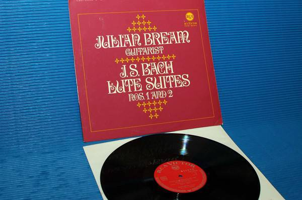 "JS BACH/Julian Bream -  - "" Lute Suites 1 & 2"" -  RCA Germany/Teldec 1966"