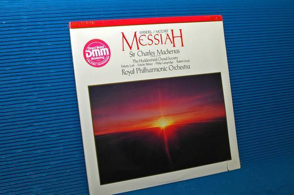 "HANDEL/MOZART/Mackerrqw -  - ""Messiah"" -  RCA 1988 Direct Metal Mastering Sealed"