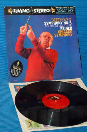 """BEETHOVEN/Reiner - - """"5th Symphony"""" -  RCA 'Shaded Dog' 1960"""