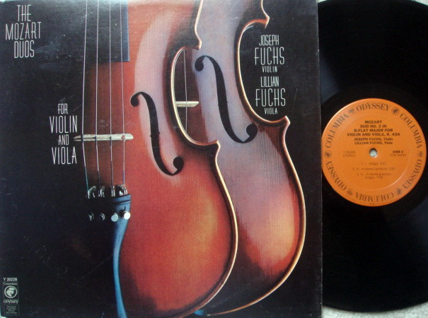 Columbia Odyssey / FUCHS,  - Mozart Duos for Violin and Viola, MINT!