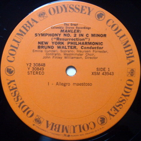 Columbia Odyssey / BRUNO WALTER,  - Mahler Symphony No.2 Resurrction, MINT, 2LP Set!