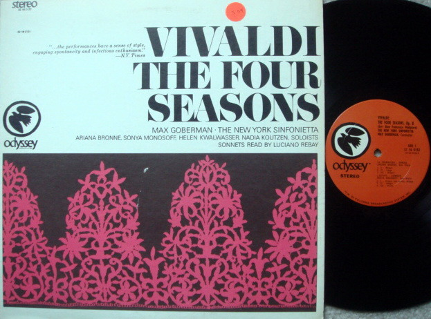 Columbia Odyssey / MAX GOBERMAN,  - Vivaldi the Four Seasons, MINT!