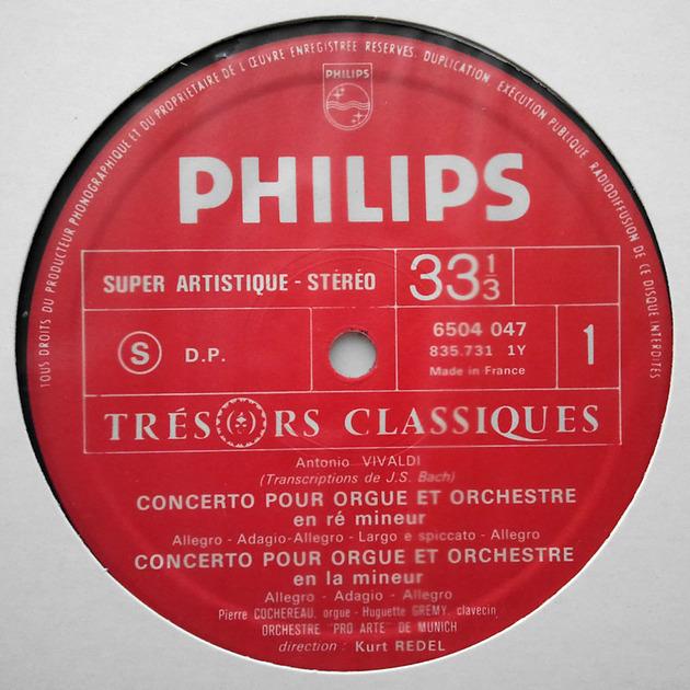 French Philips/Cochereau/Redel/Vivaldi - Organ concertos / NM