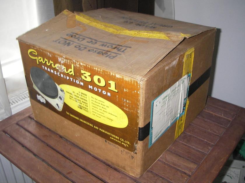 Garrard 301 Turntable NOS MINT original box manual template & accessories