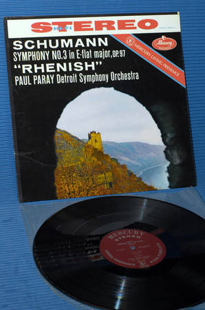 "SCHUMANN/Paray - - ""Symphony No.3 (Rhenish)"" - Mercury Living Presence 1960 early pressing"