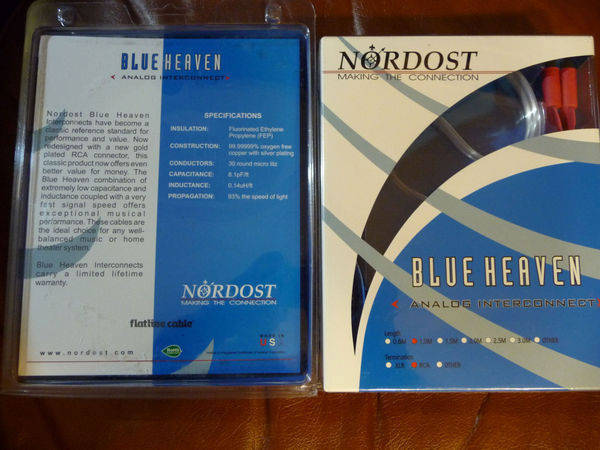 Nordost blue heaven, 1m. rca