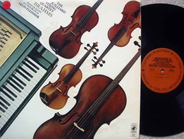 Columbia Odyssey / JUILLIARD QT-FLEISHER, - Brahms Piano Quintet Op.34, NM!
