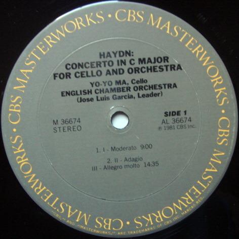 CBS / YO-YO MA-GARCIA, - Haydn Cello Concertos No.1 & 2, MINT!
