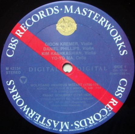 CBS Digital / YO-YO MA-KREMER, - Schubert String Quartet No.15, MINT!