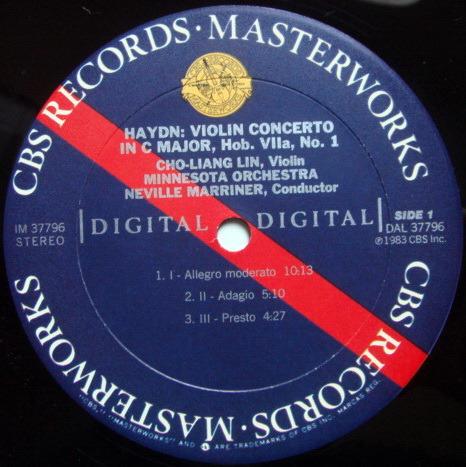 CBS Digital / CHO-LIANG LIN, - Haydn-Vieuxtemps Violin Concertos, MINT, Promo Copy!