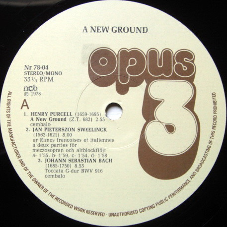 ★Audiophile★ OPUS 3, - A New Ground, MINT(OOP)!