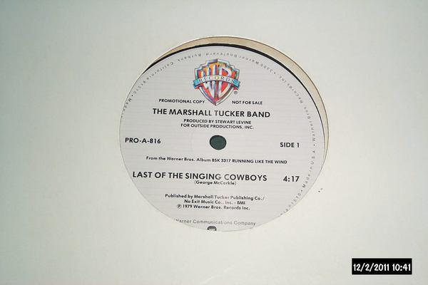 Marshall Tucker Band - Last Of The Singing cowboys promo 12 inch nm