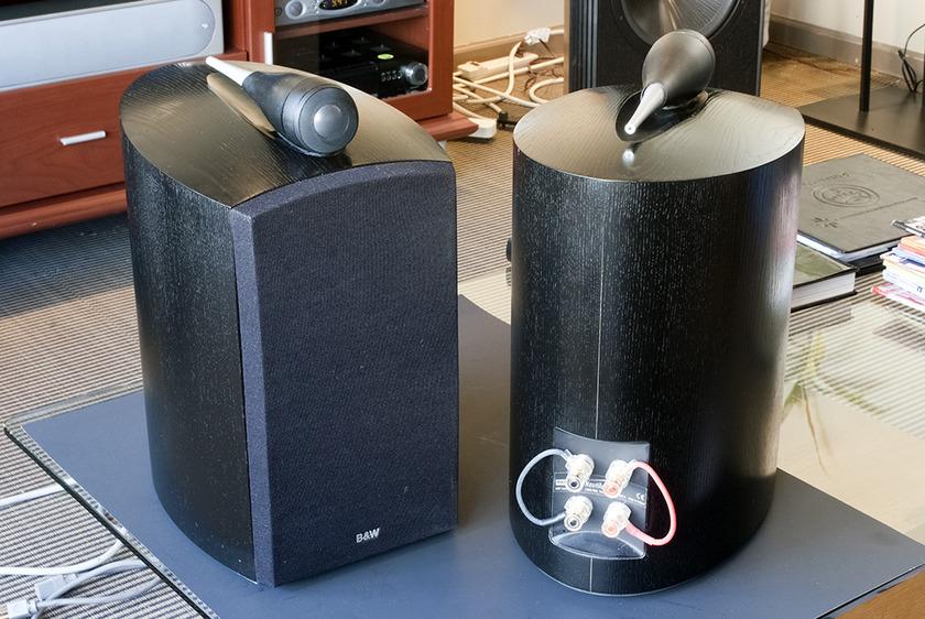 B&W Nautilus 805 Bookshelf Speakers.