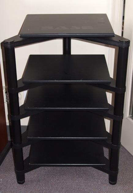 Bass rack 5 shelf with bass shelves decent shape, not mint