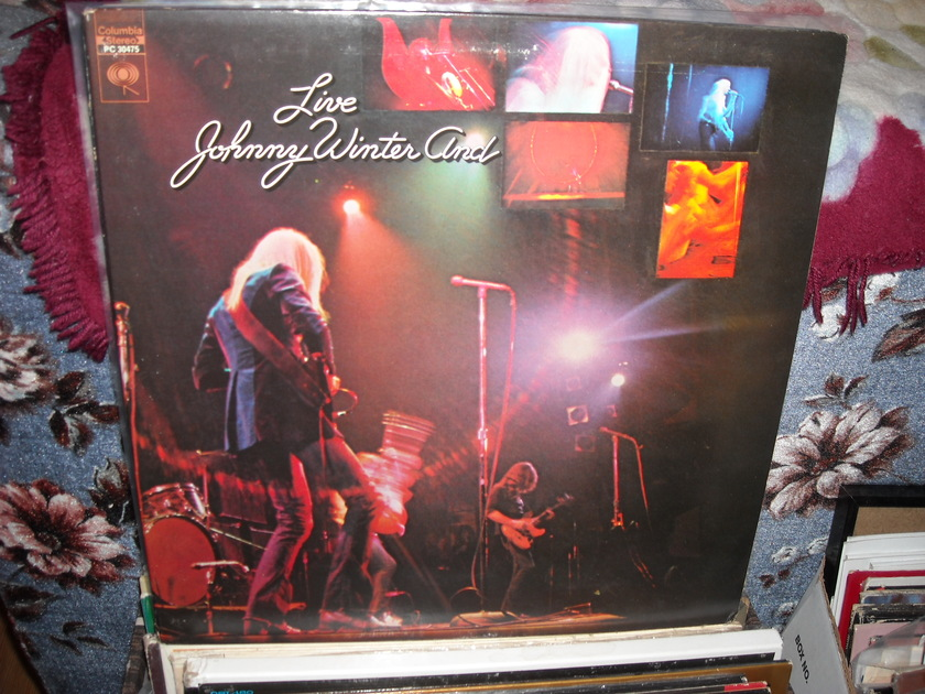 Johnny Winter  - And Live Columbia LP (c)