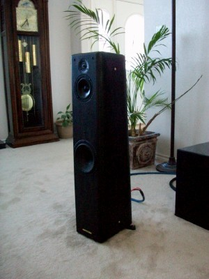 Sonus Faber Toy Tower speakers Barred Leather