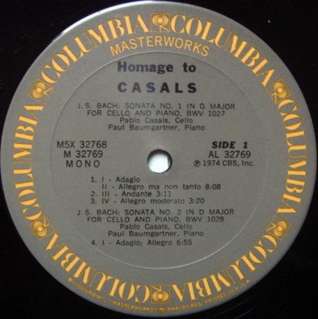 Columbia / PABLO CASALS, - Homage To Pablo Casals, MINT, 5 LP Box Set!