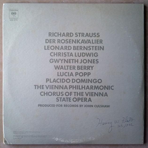 Columbia/Bernstein/R. Strauss - Der Rosenkavalier highlights / 2-LP set / / EX